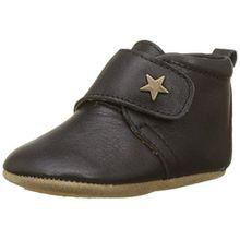 Bisgaard Unisex Baby Velcro Star Pantoffeln, Schwarz (50 Black), 18 EU