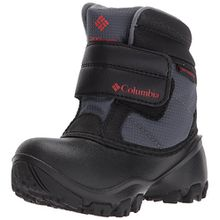 Columbia Unisex-Kinder Childrens Rope Tow Kruser Schneestiefel, Schwarz (Graphite, Bright Red 053), 27 EU