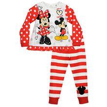 Disney Mädchen Minnie Mouse und Mickey Mouse Schlafanzug 122