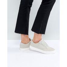 ASOS – DOLCETTO – Sneaker mit Schnürung-Grau