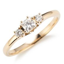 Ring 3 Diamanten zus. ca. 0,35ct Weiß/SI Gold 585