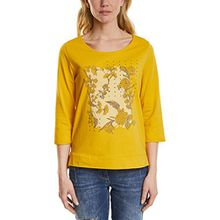Cecil Damen Langarmshirt 311873, Gelb (Golden Lemonade 31197), Large