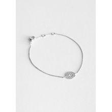 Sun Dial Pendant Bracelet - Silver