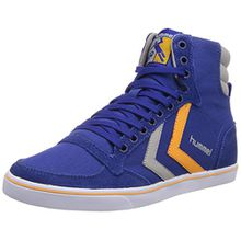 Hummel SL STADIL CANVAS HI, Unisex-Erwachsene Hohe Sneakers, Blau (Limoges Blue 8543), 41 EU