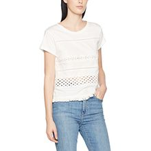 Pepe Jeans Damen Natacha T-Shirt, Weiß (Factory Whte), 42 (Herstellergröße: Large)