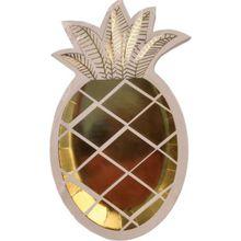 """8er Set Papp-Teller """"Gold Ananas"""" gold"""
