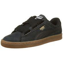 Puma Damen Basket Heart Perf Gum Sneaker, Schwarz Black-Gold, 38 EU