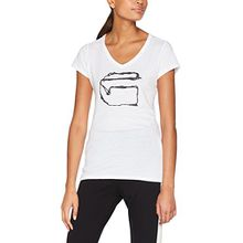 G-STAR RAW Damen T-Shirt Monthon Slim V T Wmn S/S, Weiß (White 110), Medium