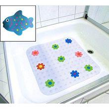 Anti-Rutsch-Sticker Duschwanneneinlage Badewanneneinlage Duschmatte Badematte PVC ca. 54x54cm vers. Motive (Fisch)