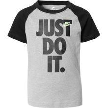 Nike Sportswear T-Shirt 'Raglan' grau / schwarz