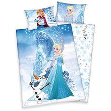 Disneys Die Eiskönigin Bettwäsche 40x60 100x135cm, 100% Baumwolle
