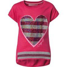 Desigual T-Shirt neonpink / pinkmeliert / silber