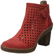 El Naturalista S.A Nf77 Lux Suede Pleasant Lichen, Damen Kurzschaft Stiefel, Rot (Tibet), 42 EU