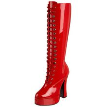 Pleaser ELECTRA-2020, Damen Langschaft Stiefel, Rot (Rot (Red Pat)), 38 EU (5 Damen UK)