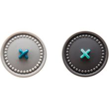 """Selbstklebende & magnetische Küchentuch-Halter """"Button Up"""" grau/schwarz"""