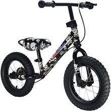 Metall Laufrad mit Bremse, Pirat schwarz