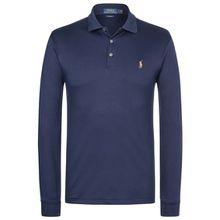 Polo Ralph Lauren Langarm-Polo Slim Fit - Blau (L, M, S, XL, XXL)