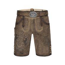 MarJo Lederhose Shorts braun Herren