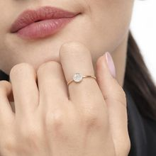 Ring Pavé mit Diamanten, 18 K Roségold