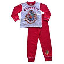ThePyjamaFactory Mädchen Schlafanzug rot rot Gr. 7-8 Jahre, rot