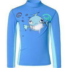 Schwimmshirt mit UV-Schutz Jungen blau  Kinder