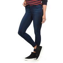 JACQUELINE de YONG By Only Feli Damen Jeans Denim Hose Röhrenjeans Aus Stretch-Material Skinny Fit, Farbe:Dark Blue Denim, Größe:S/L32