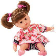Muffin mit Haaren, braunhaarig, 33cm, Babypuppe