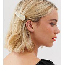 Glamorous - Exklusive Haarspange in Perlmutt-Optik - Cremeweiß
