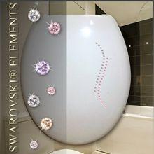 36 Swarovski Elements Kristalle Ornament Fermenia selbstklebend zum dekorieren (z.B. WC-Deckel, Glas, u.v.m.)