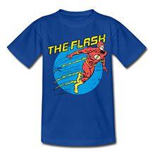 Spreadshirt DC Comics Justice League The Flash Teenager T-Shirt, 152/164 (12-14 Jahre), Royalblau