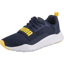 PUMA Sneaker 'Wired PS' navy / gelb