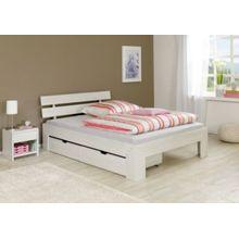 Relita Bettkastenset JASMINA, Eiche massiv, weiß gewaschen, 80 x 50 cm