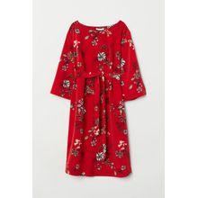 H & M - MAMA Gemustertes Kleid - Red - Damen