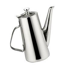 Baoblaze Kaffee Teekanne - Edelstahl Teekanne Wasserkocher, Tee Topf mit Deckel, Teekessel für Zuhause - Lange Düse, 2L