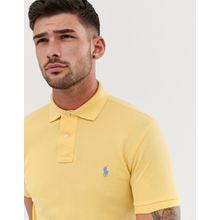 Polo Ralph Lauren - Schmales Pikee-Polohemd in verwaschenem Hellgelb mit Polospieler-Logo - Gelb