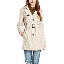 fransa Damen Trenchcoat Jacke Radust 1 Outer - wear, Gr. 40 (Herstellergröße: L), Beige (Tile Sand 60729)