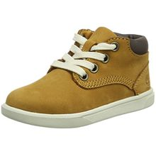 Timberland Groveton_Groveton Leather Chukka, Unisex-Kinder Sneakers, Braun (Wheat Nubuck), 33 EU