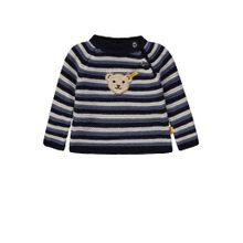 STEIFF Pullover beige / rauchblau / schwarz