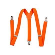 TOOGOO(R) Mann 37 x 1 Zoll Hosentraeger Orange