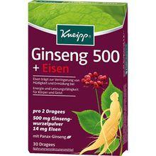 Kneipp Gesundheit Nahrungsergänzung Ginseng 500 + Eisen 1 Stk.