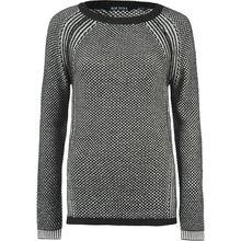 BLUE SEVEN Pullover schwarz/weiß Damen