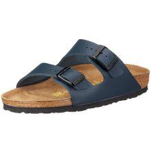 BIRKENSTOCK Classic Arizona Leder, Unisex-Erwachsene Pantoletten, Blau (Blau), 48 EU
