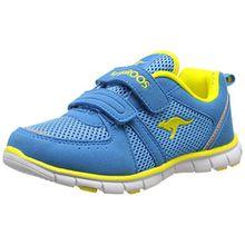 KangaROOS Nara, Unisex-Kinder Sneakers, Blau (Blue/Acid Yellow 417), 33 EU