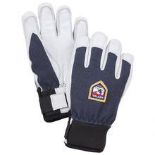 Hestra - Kid's Army Leather Patrol - Handschuhe Gr 4;5;6 schwarz/grau/weiß;schwarz/grau