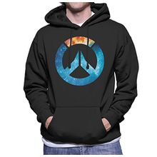 Overwatch Galaxy Silhouette Men's Hooded Sweatshirt