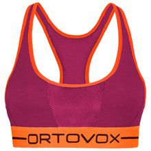 Ortovox - Women's 185 Rock'N'Wool Sport Top - Sport-BH Gr L rot/orange