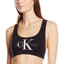 Calvin Klein underwear Damen Bustier Bralette Lightly Lined, Schwarz (Black 001), 38 (Herstellergröße: M)