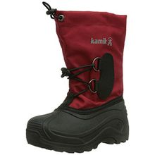 Kamik SOUTHPOLE3, Unisex-Kinder Warm gef�tterte Schneestiefel, Rot (RED), 27 EU (10 US)