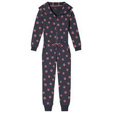 Schiesser Mädchen Einteiliger Schlafanzug Mix & Relax Jumpsuit, Grau (Graphit 207), 176 (Herstellergröße: L)