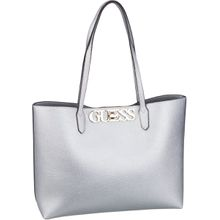 Guess Handtasche Uptown Chic Barcelona Tote Silver